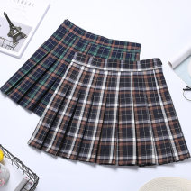 skirt Autumn 2020 XS S M L XL 2XL White orange green orange Short skirt commute High waist A-line skirt lattice Type A 18-24 years old BMD-6859 91% (inclusive) - 95% (inclusive) Boumanteau polyester fiber Button zipper Korean version Other polyester 95% 5% Pure e-commerce (online only)