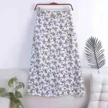 skirt Summer 2021 Average size White black green purple Mid length dress fresh High waist Broken flowers 30-34 years old NBSHQ More than 95% Three sheep other Other 100% Pure e-commerce (online only)
