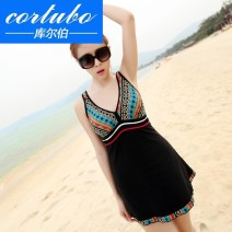 one piece  Cortubo / korber Skirt one piece With chest pad without steel support Nylon spandex polyester Summer of 2018
