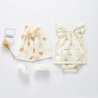 suit Other / other Triangle Top + bread pants, strawberry Top + bread pants 66cm,73cm,80cm,90cm,100cm female summer Korean version Sleeveless + pants 2 pieces Thin money No model Socket nothing cotton children Expression of love 202H02 Class A Cotton 90% other 10%