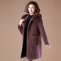 Middle aged and old women's wear Autumn 2020 Lafite L XL XXL XXXL 4XL leisure time easy Solid color 40-49 years old Cardigan thick Medium length 98-662_ t6XLT Spencer other Other 100% 96% and above Medium length Cotton 81% - 90%