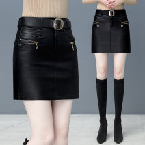skirt Autumn 2020 26 27 28 29 30 31 32 Black 9638 black Short skirt commute High waist skirt Solid color Type A 25-29 years old FX2889YFL 81% (inclusive) - 90% (inclusive) Fangxi Viscose Three dimensional decorative zipper in pocket Korean version Viscose (viscose) 83.7% polyester 16.3%
