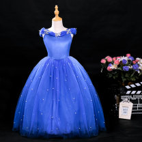 Dress female Lisburg 110cm (focus on princess skirt for 14 years) 120cm (model wear this size) 130cm (high quality, suitable for gift giving) 140cm (a good choice for birthday gift) 150cm (accessories quality is very good) Cotton 61% polyester 39% spring and autumn princess Short sleeve cotton
