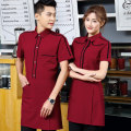 Work uniform Black men's black women's red men's red women's Qimino L XL 2XL 3XL waiter YQF-FWY1012 jacket summer go to work Restaurant other Polyester 100% youth Spring of 2018 Pure e-commerce (online only)