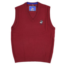 Vest / vest Fashion City Beverly Paul S,M,L,XL,2XL,3XL gules Other leisure standard Woolen vest routine autumn V-neck 2019 Business Casual Solid color Socket Straight hem wool Wool 100% More than 95%