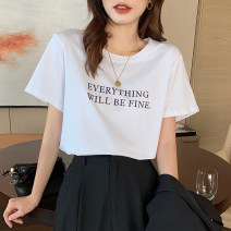 T-shirt S M L XL Spring 2021 Short sleeve Crew neck easy have cash less than that is registered in the accounts routine commute other 96% and above 18-24 years old Simplicity letter Good core printing Other 100% Pure e-commerce (online only)