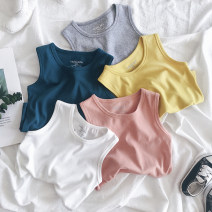 Vest sling Sleeveless 90,100,110,120,130,140 summer Mr Littlelittle male No model leisure time Solid color Crew neck nothing Cotton 91.5% polyurethane elastic fiber (spandex) 8.5% Class B Five, six, seven, eight, nine, ten, eleven Chinese Mainland