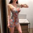 Dress Summer of 2019 Leopard Print S,M,L Short skirt singleton  Sleeveless street High waist Decor One pace skirt routine camisole 18-24 years old 31% (inclusive) - 50% (inclusive) Europe and America