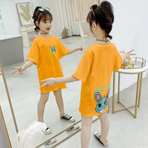 T-shirt Orange, white, black Other / other 110cm,120cm,130cm,140cm,150cm,160cm female spring and autumn leisure time There are models in the real shooting cotton Cartoon animation Other 100% 7, 8, 14, 3, 6, 13, 11, 5, 4, 10, 9, 12 Chinese Mainland