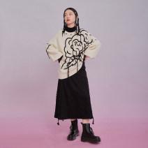skirt Autumn 2020 S,M,L black longuette commute Natural waist A-line skirt Solid color Type A P67TN0102 51% (inclusive) - 70% (inclusive) other U are / ear cotton Zipper, lace literature