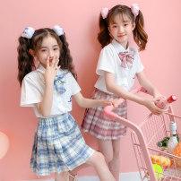 School uniform / school uniform customization 110cm,120cm,130cm,140cm,150cm,160cm,170cm female Other / other spring and autumn college Class B Single breasted Children's jk-1 Long sleeve + skirt