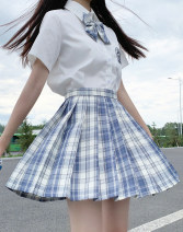 student uniforms Summer 2020 XS,S,M,L,XL,XXL Short sleeve solar system skirt 18-25 years old Other / other Silk and satin 1018# 31% (inclusive) - 50% (inclusive)