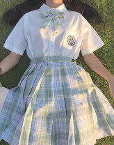 student uniforms Summer 2020 S (100-105 kg), m (105-110 kg), l (110-115 kg), XL (115-120 kg) Short sleeve solar system skirt 18-25 years old Other / other Silk and satin Cedar # - L 31% (inclusive) - 50% (inclusive)