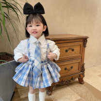 Dress female Other / other 80cm,90cm,100cm,110cm,120cm,130cm Other 100% spring and autumn college Skirt / vest lattice cotton Cake skirt Q016 Class A 12 months, 18 months, 2 years old, 3 years old, 4 years old, 5 years old, 6 years old, 7 years old, 8 years old