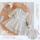 Dress One piece dress female Other / other Yibiao 66, Yibiao 73, Yibiao 80, Yibiao 90, Yibiao 100, Yibiao 110, Yibiao 120, Yibiao 130 Other 100% spring and autumn Sweet Broken flowers cotton Cake skirt EQ189 ML009 Class A