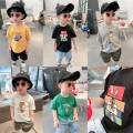 T-shirt Other / other 80cm,90cm,100cm,110cm,120cm,130cm,140cm male summer Short sleeve Crew neck There are models in the real shooting cotton printing 7 years old, 12 months old, 3 years old, 6 years old, 18 months old, 2 years old, 5 years old, 4 years old Chinese Mainland