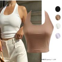 Vest sling Summer 2021 Black, white, purple, khaki S, M singleton  have cash less than that is registered in the accounts Self cultivation street camisole Solid color cotton 225- backless