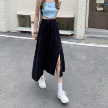 skirt Summer 2021 S, M Gray, black longuette commute High waist A-line skirt Solid color Type A 18-24 years old 0412g 31% (inclusive) - 50% (inclusive) other other Korean version