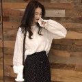 skirt Spring of 2019 Average size Shirt, polka dot skirt Mid length dress commute High waist A-line skirt Dot Type A 18-24 years old 30% and below other Korean version
