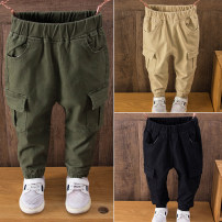 trousers Deer bend male 90cm,100cm,110cm,120cm,130cm,140cm The two side patch pants are military green, the two side patch pants are black, and the two side patch pants are beige spring and autumn trousers leisure time No model Casual pants Leather belt middle-waisted cotton Don't open the crotch