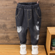 trousers Deer bend male 90cm,100cm,110cm,120cm,130cm Black cut jeans spring and autumn trousers No model Jeans Leather belt middle-waisted Denim Don't open the crotch Black cut jeans Class B 2 years old, 3 years old, 4 years old, 5 years old, 6 years old, 7 years old Chinese Mainland Huzhou City