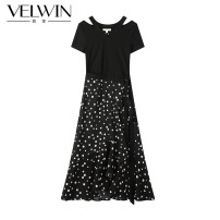 Dress Summer 2020 Mixed color (Y0) 155/S/36 160/M/38 165/L/40 Mid length dress singleton  Short sleeve commute High waist Dot Socket 25-29 years old Type A velwin Simplicity JELL353A10 31% (inclusive) - 50% (inclusive) polyester fiber Same model in shopping mall (sold online and offline)