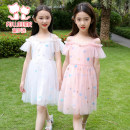 Dress White, pink female Follow me 110cm,120cm,130cm,140cm,150cm,160cm Polyester 100% summer princess Skirt / vest polyester fiber Cake skirt Class B Chinese Mainland Zhejiang Province Ningbo City