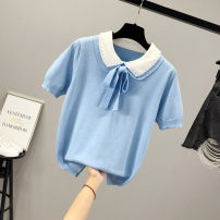 T-shirt S M L XL Summer 2020 Short sleeve Doll Collar easy Regular other 96% and above Solid color Other 100% Pure e-commerce (online only)
