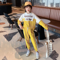 suit Guldoeleph / Gudong elephant 120cm 130cm 140cm 150cm 160cm 170cm female spring Korean version Long sleeve + pants 2 pieces Thin money There are models in the real shooting Socket No detachable cap letter cotton children Expression of love Class B Cotton 85% polyester 15% Spring 2021 Huzhou City