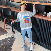 Sweater / sweater Guldoeleph / Gudong elephant Grey cartoon pizza sweater purple cartoon pizza sweater female 120cm 130cm 140cm 150cm 160cm 170cm spring nothing Korean version Socket Thin money There are models in the real shooting cotton Cartoon animation Cotton 85% polyester 15% SY0215 Class B