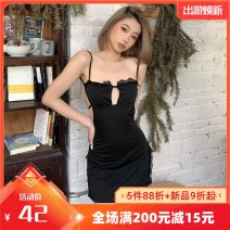 Dress Summer 2021 black S,M,L Short skirt singleton  Sleeveless street other Solid color other other other camisole 18-24 years old Type A Open back, lace, strap K20D11408 91% (inclusive) - 95% (inclusive) other polyester fiber Europe and America
