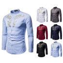 shirt other Others S,M,L,XL,2XL White, gray, black, Burgundy, blue, navy routine stand collar Long sleeves standard Other leisure autumn