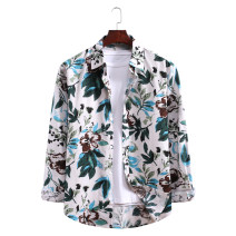 shirt Fashion City mymstorm M,L,XL,2XL,3XL Al035 picture color routine square neck Long sleeves standard Other leisure Four seasons youth Youthful vigor 2020 other Color woven fabric No iron treatment cotton Arrest line shape memory  More than 95%