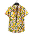 shirt Fashion City Others S,M,L,XL,2XL Black, yellow routine Pointed collar (regular) Short sleeve standard Other leisure summer youth Youthful vigor 2021 Broken flowers Color woven fabric washing cotton Arrest line shape memory  More than 95%