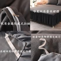 Bed skirt Suitable for 1.2x2.0m bed [quilt cover 150x200], suitable for 1.5x2.0m bed [quilt cover 200x230], suitable for 1.8x2.0m bed [quilt cover 200x230], suitable for 2.0x2.2m bed [quilt cover 200x230] cotton Solid color First Grade