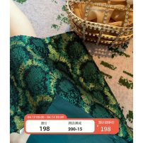 skirt Spring 2020 XS,S,M,L Green (spot), green 10 working days Middle-skirt gorgeous Natural waist A-line skirt Decor Type A 25-29 years old 51% (inclusive) - 70% (inclusive) other polyester fiber Embroidery, pocket, zipper, jacquard