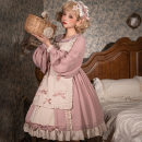 Dress Spring 2021 S,M,L Middle-skirt singleton  Long sleeves Sweet Doll Collar High waist Decor Big swing 18-24 years old Type A printing other polyester fiber Lolita