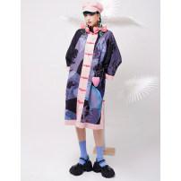 short coat Spring 2021 Average size Black Pink Long sleeves Medium length Thin money singleton  easy Original design routine Single breasted 18-24 years old