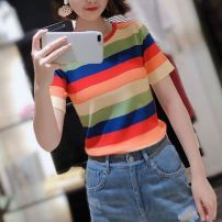 T-shirt Red stripe, blue stripe 2 = s, 3 = m, 4 = L, 5 = XL Summer 2021 Short sleeve Crew neck Self cultivation Regular routine commute other 71% (inclusive) - 85% (inclusive) 25-29 years old Simplicity originality Thick horizontal stripe Brother amashsin 1399032-5t36811-003