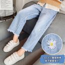 trousers Other / other female 160cm,130cm,140cm,120cm,110cm,150cm Blue, dark grey spring and autumn trousers There are models in the real shooting Jeans Leather belt High waist Denim Don't open the crotch Other 100% Class B nothing 14 years old Chinese Mainland