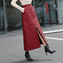 skirt Autumn of 2019 M,L,XL,2XL,3XL,4XL Brown, red, black 81% (inclusive) - 90% (inclusive) Other / other
