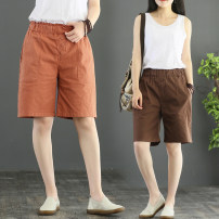 Casual pants Khaki, coffee, apricot, orange M,L,XL,2XL Summer of 2019 Pant loose  low-waisted commute Thin money 25-29 years old 81% (inclusive) - 90% (inclusive) hemp literature hemp