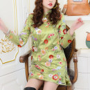 cheongsam Winter 2020 S,M,L,XL green Long sleeves La Bellezza-Liu 81% (inclusive) - 90% (inclusive)