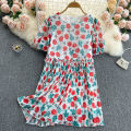 Dress Summer 2021 Yellow, red M, L Short skirt singleton  Short sleeve commute Crew neck High waist Decor Socket A-line skirt puff sleeve Others 18-24 years old Type A Korean version 31% (inclusive) - 50% (inclusive) other other