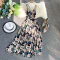 Dress Summer 2020 S,M,L Mid length dress singleton  Sleeveless commute V-neck High waist Decor Socket A-line skirt other camisole 18-24 years old Type A Korean version 30% and below other other