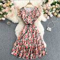 Dress Spring 2021 maple leaves S,M,L,XL,2XL Middle-skirt singleton  commute Crew neck High waist other Socket A-line skirt Others 18-24 years old Type A Korean version 31% (inclusive) - 50% (inclusive) other other