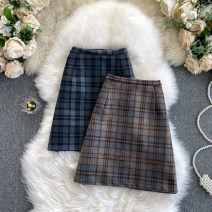 skirt Autumn 2020 S,M,L blue , Dark brown Short skirt commute High waist A-line skirt other Type A 25-29 years old 31% (inclusive) - 50% (inclusive) other other Korean version