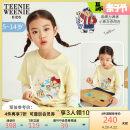 T-shirt yellow teenieweenieKIDS 110 120cm 130cm 140cm 150cm female summer Long sleeves nothing other stripe Other 100% TKLA212352B Summer 2021 5 years old, 6 years old, 7 years old, 8 years old, 9 years old, 10 years old, 11 years old, 12 years old, 13 years old, 14 years old Chinese Mainland