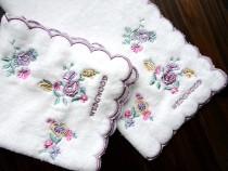 Handkerchief Export exquisite embroidered square towel 27cm 1 piece