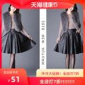 skirt Winter 2020 M,L,XL,3XL,4XL,5XL,XXL currency Mid length dress High waist Pleated skirt zipper